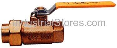 "Conbraco 70-303-01 Single Union End Bronze Ball Valve 1/2"" 600psig WOG Cold Non-Shock 150psig Saturated Steam"