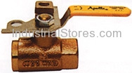 """Conbraco 75-103-01 Bronze Pad Locking Ball Valve 1/2"""" Threaded 600psig WOG Cold Non-Shock 150psig Saturated Steam"""