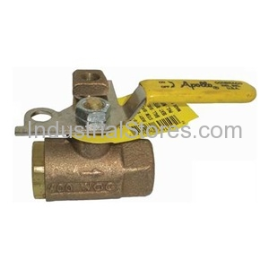 "Conbraco 75-105-01 Bronze Pad Locking Ball Valve 1"" Threaded 600psig WOG Cold Non-Shock 150psig Saturated Steam"