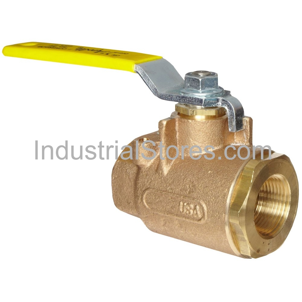 "Conbraco 77-143-01 Bronze Full-Port Ball Valve 1/2"" Threaded 600psig WOG Cold Non-Shock 150psig Saturated Steam"