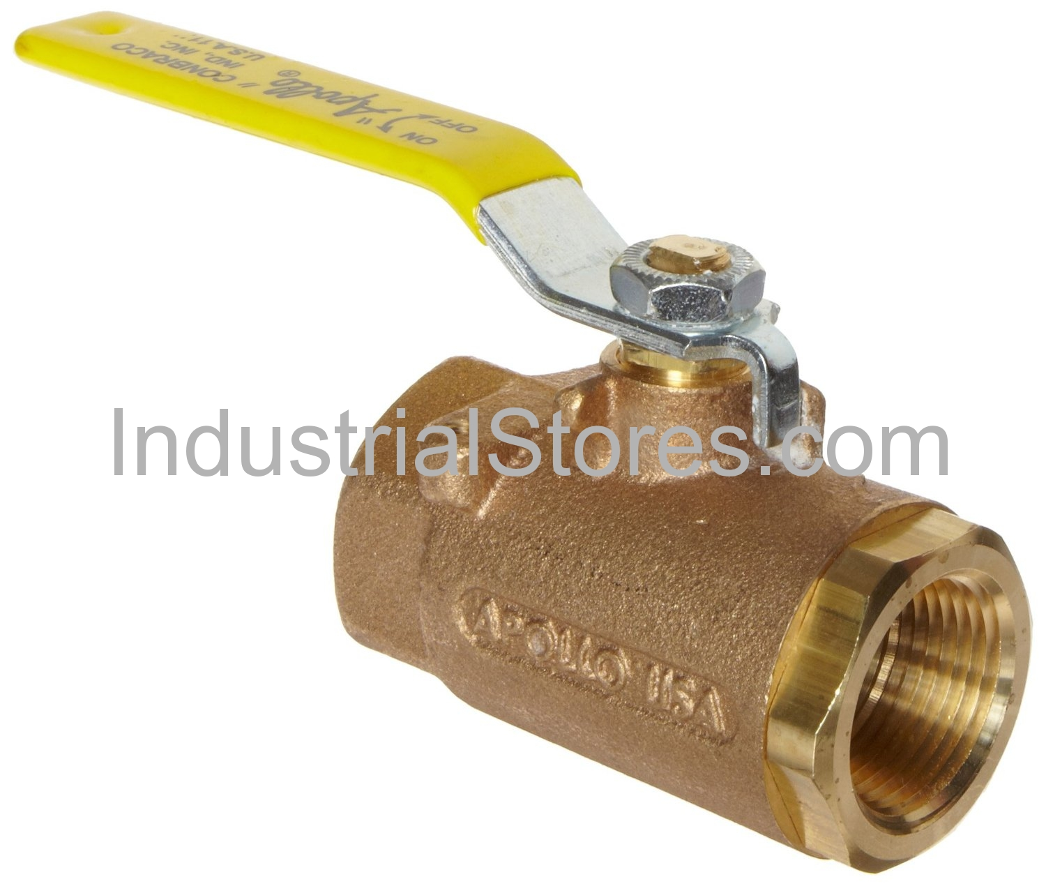 "Conbraco 77-904-01 Bronze Full-Port SAE Straight Thread Ball Valve 3/4"" Straight Threads 600psig WOG Cold Non-Shock 150psig Saturated Steam"