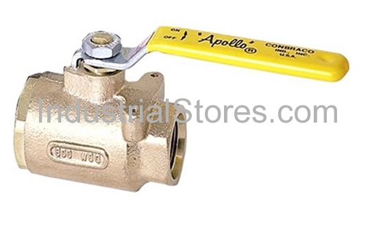 """Conbraco 77-907-01 Bronze Full-Port SAE Straight Thread Ball Valve 1-1/2"""" Straight Threads 600psig WOG Cold Non-Shock 150psig Saturated Steam"""