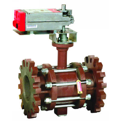 "Honeywell VBF2L51S0B Control Ball Valve with Flanged Connection 2-Way 6"" 441Cv ANSI Construction Stainless Steel No Enclosure Non-Spring Return Actuator Modulating"