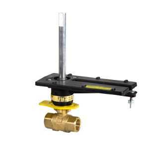 "Barber Colman (Schneider Electric) VB-2213-500-9-4 Ball Valve with Linkage 1/2"" NPT 2-Way Brass Body 2.6 Cv"
