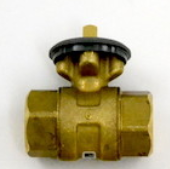 "Honeywell VBN3A008.00PL Ball Valve 2"" 8Cv 0.5"" 3-Way Brass Actuator"
