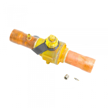 """Emerson Flow Controls 806762 Refrigeration Manual Shut Off Ball Valve with Access Valve 1-5/8"""""""