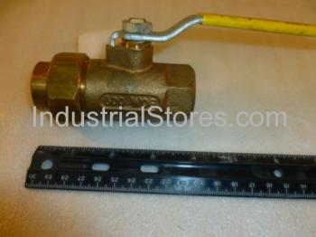 "Conbraco 70-304-01 Single Union End Bronze Ball Valve 3/4"" 600psig WOG Cold Non-Shock 150psig Saturated Steam"