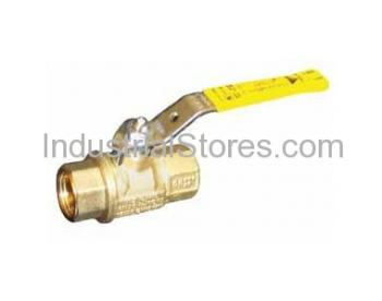 """Conbraco 71-106-01 Bronze Ball Valve with Mounting Pad 1-1/4"""" Threaded 600psig WOG Cold Non-Shock 150psig Saturated Steam"""