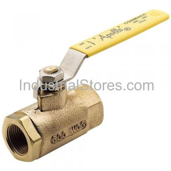 "Conbraco 71-107-01 Bronze Ball Valve with Mounting Pad 1-1/2"" Threaded 600psig WOG Cold Non-Shock 150psig Saturated Steam"