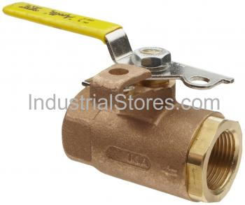 """Conbraco 75-101-41 Bronze Pad Locking Ball Valve 1/4"""" Threaded 600psig WOG Cold Non-Shock 150psig Saturated Steam Automatic Drain"""