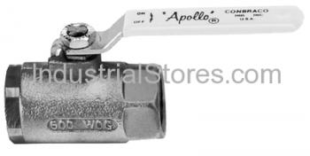 Conbraco 76-103-27A Stainless Steel Ball Valve with Mounting Pad Stainless Steel Latch-Lock Lever and Nut