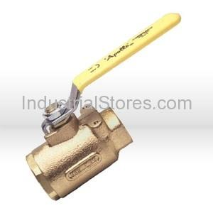 "Conbraco 77-105-27 Bronze Full-Port Ball Valve 1"" Threaded 600psig WOG Cold Non-Shock 150psig Saturated Steam Stainless Steel Latch-Lock Lever & Nut"