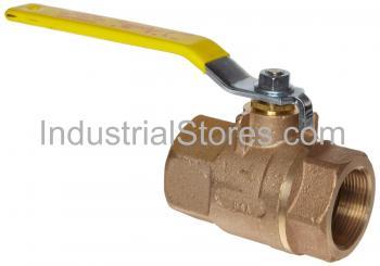 "Conbraco 80-107-01 Bronze Liquid Propane Gas Ball Valve 1-1/2"" Threaded 600psig WOG Cold Non-Shock 250psig Liquid Propane Gas"