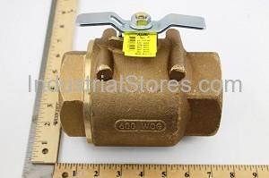 "Conbraco 80-109-07 Bronze Liquid Propane Gas Ball Valve 2-1/2"" Threaded 600psig WOG Cold Non-Shock 250psig Liquid Propane Gas"