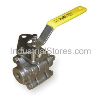 """Conbraco 86A-104-01 Stainless Steel 3-Piece Full Port Ball Valve 1500 CWP 3/4"""""""