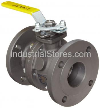 """Conbraco 88A-148-01 Carbon Steel ASME Class 150 Flanged Standard Port Ball Valve 2"""" Staineless Steel Ball and Stem"""
