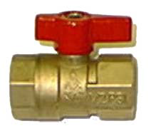 "Brass Gas Ball Valve- FIP x FIP 3/8"" (Qty: 1)"